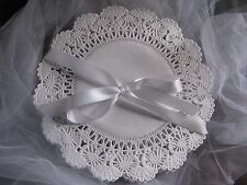 """8"""" INCH ROUND FRILLY WHITE PAPER LACE DOILIES CRAFT 100 PCS FAST FREE SHIPPING"""