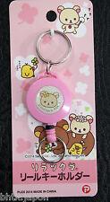 キーホルダー Porte-clés Porte-badge avec enrouleur - リラックマ Rilakkuma 02 - Import Japon