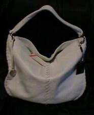 Ladies Pulicati genuine leather white hobo shoulder bag tote purse NWT Italy