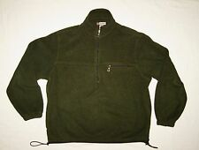 Hood River Fleece 3/4 zip Jacket Mens Medium Pull on Dark Green