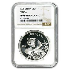 1996 China 1 oz Silver Panda PF-68 NGC - SKU #95569