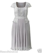 BNWT SIZE 16 FROCK & FRILL SIMPLY BE Dress Silver Grey