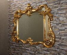 Klassisspiegel Wandspiegel SPIEGEL Antikgold Gold 129x100 cm Truhespiegel Rokoko