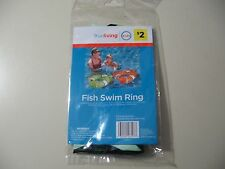 "24"" Inflatable Fish Swim Ring (green), Brand New & Sealed, for ages 4+"