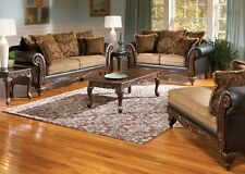 Serta Ronalynn Formal Antique Style Sofa, Love Seat & Chaise Living Room Set USA