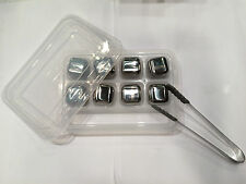 8 Stainless Steel Ice Cube Box Set Glacier Rock Drink Freezer Whiskey Stone TONG