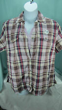Basic Editions Shirt blouse 3 X Purple Plaid 2 piece Top Camisole Lt purple NWT