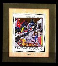 """HUNGARY - UNGHERIA - BF - 1971 - Miniatura della """"Cronaca Illuminato"""""""