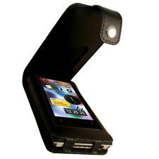 Black Genuine Leather Case for Samsung YP-P3 MP3 Player Cover Holder