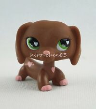 Littlest Pet Shop LPS #556 Valentines Dachshund Dog Green Eyes Girl Toys Gift