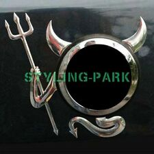 Car Chrome Devil Rear Hood Logo Badge Emblem Trunk Lid Tail Gate Sticker Decal
