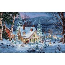 Counted Cross Stitch Kit WINTER'S HUSH  Dimensions Gold Collection
