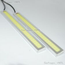 2x Super Bright 12V 14 CM COB White Car LED Lights for DRL Fog Driving Lamp