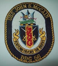 USS John S McCain DDG 56 Guided Missile Destroyer Ship Crest MILITARY PATCH