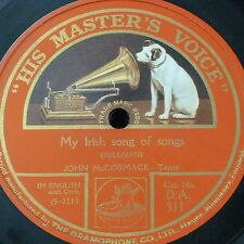 78rpm JOHN McCORMACK my irish song of songs / my little town in old county down