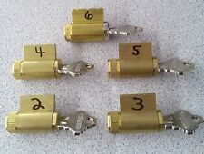 PRACTICE LOCK SET, 2,3,4,5 & 6 PIN, LOCKSMITH TRAINING, PICK SCHLAGE BRASS LOCKS
