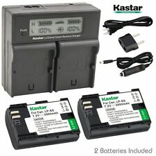 LCD Dual Fast Charger & 2 x Battery for Canon LP-E6 EOS 5D 6D 7D Mark II 70D 80D