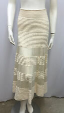 CELINE KNIT CROCHET SKIRT LONG BEIGE AMAZING WORK OF ART SIZE SMALL S