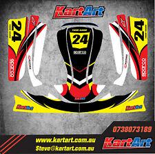 Arrow X3 go kart  full custom KART ART sticker kit NERO STYLE / graphics