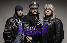 MOTORHEAD BAND SIGNED AUTOGRAPHED 10x8 REPRO PHOTO LEMMY PHIL MIKKEY DEE