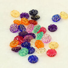 100 PCS 13MM ACRYLIC MIXED CUTE CANDY COLORS Round FLOWER BOTTONS SEWING CRAFT