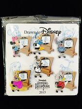DISNEY PIN STITCH OLAF RAPUNZEL ANNUAL PASS 2015 DRAWN TO DISNEY SKETCH PIN SET