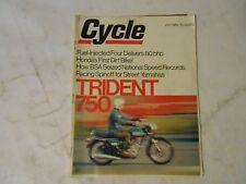 JULY 1969 CYCLE MAGAZINE,TRIDENT 750,YAMAHA 250 SCRAMBLER,HONDA SL-90 MOTOSPORT