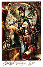 J SCOTT CAMPBELL NEI RUFFINO SDCC 2013 STEAMPUNK & RAVISHING RED ART PRINTS