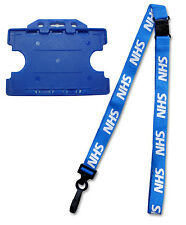 NHS Breakaway Lanyard with Double Sided Blue ID Card Holder