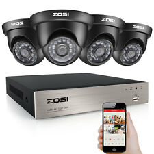 ZOSI HD 720P 4CH HDMI DVR 1500TVL IR Outdoor CCTV Home Security Camera System