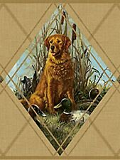 Hunting Dog Portraits in Diamond Frame - 60 feet ONLY $33 Wallpaper Border A391