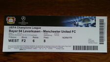Ticket BAYER LEVERKUSEN - MANCHESTER UNITED Champions L. 2013/14 Germany England