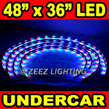 LED Neon Strip Under Car Glow Light Tube Undercar Underbody Underglow Kit C01