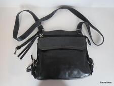 FOSSIL Navy Blue Glove Leather Buckle Crossbody Purse with Built-in Wallet