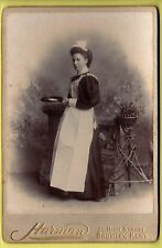 Victorian Cabinet Photo - Servant holding Calling Card Tray - Harman - Bromley
