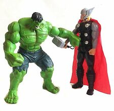 "Marvel Comics Avengers 10"" tall THOR & HULK  figure with sound & light fx"