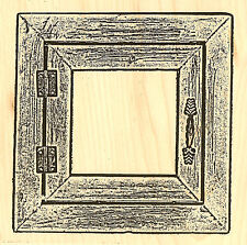 Barn Wood Window Frame Wood Mounted Rubber Stamp Impression Obsession H9011 NEW