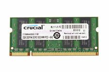 Crucial 2GB 2RX8 PC2-6400S DDR2 800MHz 200pin SODIMM RAM Laptop Memory CL6 1.8V