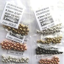 "140) 5/32"" & 3/16"" BRASS BEAD FLY TYING ASSORTMENT large & XL for hook sizes 6-4"