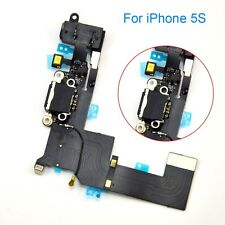 A+ For iPhone 5S Black Charging Port Charger Flex USB Dock Replacement Part MZSK