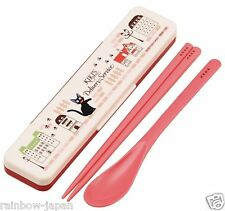 Kiki's Delivery Service Spoon & Chopsticks Set with Case Lunch Food Bento JAPAN