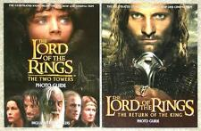 LORD OF THE RINGS ~ TWO TOWERS & RETURN OF THE KING PHOTO GUIDES ~ 1st PRINT SC