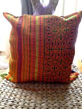 Hmong Ethnic Textile Decorative Pillow Case 16 x 16 Cushion Cover