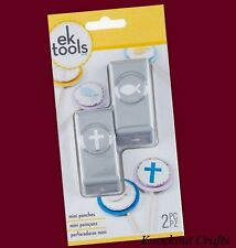 EK Tools CROSS & FISH 2 Piece Mini Punch Set 54-10084 ~ KNOCKOUT CRAFTS