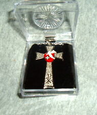 CONFIRMATION SILVER PLATED CROSS Pendant NIB Catholic Dove Host ChiRho