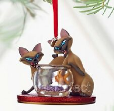 Disney SI & AM 2016 SKETCHBOOK CHRISTMAS ORNAMENT Lady Tramp Siamese Cat in Box