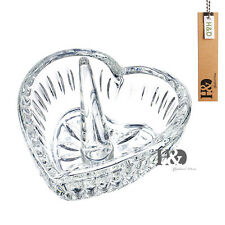 Crystal Glass Heart Jewelry Ring Holder Wedding Party Decor Favor Holiday Gift