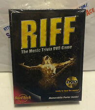 RIFF The Music Trivia DVD Game! From Grunge to Rap! Hard Rock Item #:04500 NEW !