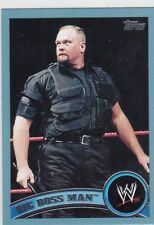 2011 TOPPS WWE BIG BOSS MAN BLUE PARALLEL WRESTLING CARD #99  2011 MADE