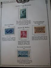 US Stamp Old Album Page 1955  Mint in Mount C52